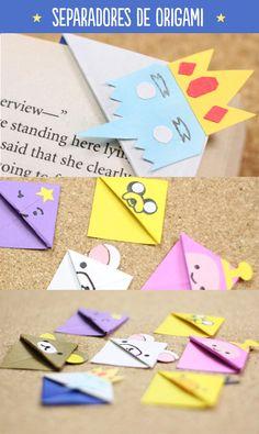 Separadores de origami con personajes de hora de aventura y rilakkuma. Están super sencillos y se verán increíbles en tus libros. Mándame el tuyo para el #RetoCrafty