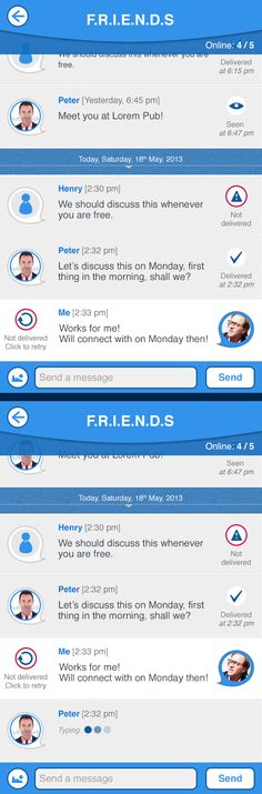 Group Chat Messaging App | UIDesign