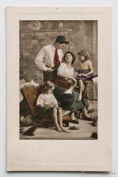 Preciosa postal coloreada, 1900s. Circulada -  El Desván de Bartleby C/.Niebla 37. Sevilla