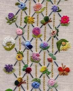 Wonderful Ribbon Embroidery Flowers by Hand Ideas. Enchanting Ribbon Embroidery Flowers by Hand Ideas. Crewel Embroidery Kits, Hand Embroidery Videos, Embroidery Flowers Pattern, Silk Ribbon Embroidery, Hand Embroidery Designs, Embroidery Techniques, Embroidery Thread, Embroidery Supplies, Embroidery Ideas