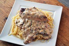 Spaghetti met kip in champignonsaus - OhMyFoodness