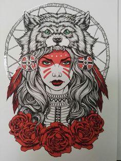 Next tat - Tattoos - Tatuagens Ideias Tattoo Sketches, Tattoo Drawings, Body Art Tattoos, Sleeve Tattoos, Girl Tattoos, Tatoos, Art Drawings, Headdress Tattoo, Native Tattoos