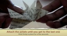 Picture of Attach the Petals Until You Get to the Last One Origami Stars, Origami Flowers, Easy Origami, Geek Cross Stitch, Cross Stitch Bookmarks, Origami Instructions, Origami Tutorial, Diy Projects Origami, Origami Ball