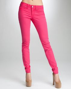 Crayola-chic! {bebe Signature Stretch Color Skinny Ankle Jean in Bright Rose}