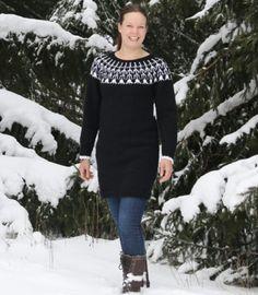 Kaarrokeneuletunika talven paukkupakkasiin nyt tarvikepakettina. Dresses With Sleeves, Blouse, Long Sleeve, Shopping, Tops, Women, Fashion, Moda, Sleeve Dresses