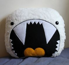 Giant Yeti Pillow from loveandasandwich on Etsy #yeti #pillow