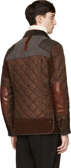 Junya Watanabe Brown Diamon Quilted Jacket