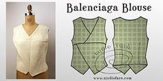 FREE Vintage Pattern Making Instructions #PatternPuzzles - Balenciaga Blouse http://www.studiofaro.com/well-suited/pattern-puzzles-balenciaga-blouse?utm_content=buffer08823&utm_medium=social&utm_source=pinterest.com&utm_campaign=buffer #wellsuitedblog #VintageStyle