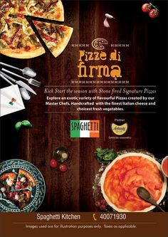 Winter is here.....and so are the Stone fired Signature Pizzas #SpaghettiKitchen@ Forum Mall