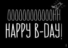 FDBCK cards - tekst oh happy birthday kaart (Voorzijde)
