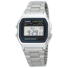 Casio A158W-1 Men's Classic Stainless Steel Water Resistant Digital Watch #Casio #ShopTheWorld