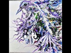 Fluid Acrylic Pouring Tutorial#10# Bird,Ptak Obraz wylewany - YouTube