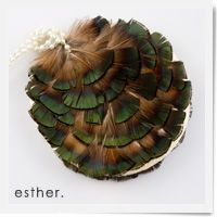 Peacock Feather Purse