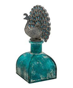 Look at this #zulilyfind! Blue Peacock Decorative Bottle by Designs Combined Inc. #zulilyfinds