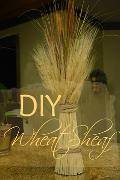Fall is in the air and my fall decorating is in full swing!! Join me today as we make a fall wheat sheaf. A perfect addition to your fall decor.