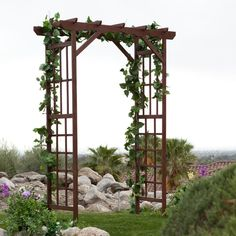 wedding arbor with grapevine!! :) wedding arbor decorations | All about Real Weddings - Wedding Blog