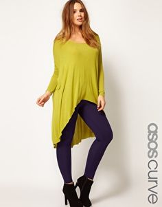 This top is so unflattering on a plus-sized model that it is *disrespectful.*