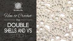 The Double Shells and V's Stitch :: Crochet Stitch #203 :: New Stitch A Day