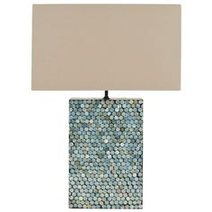 Safavieh Cassandra 16.5 in. Round Blue Mother of Pearl Table Lamp-LIT5008C - The Home Depot