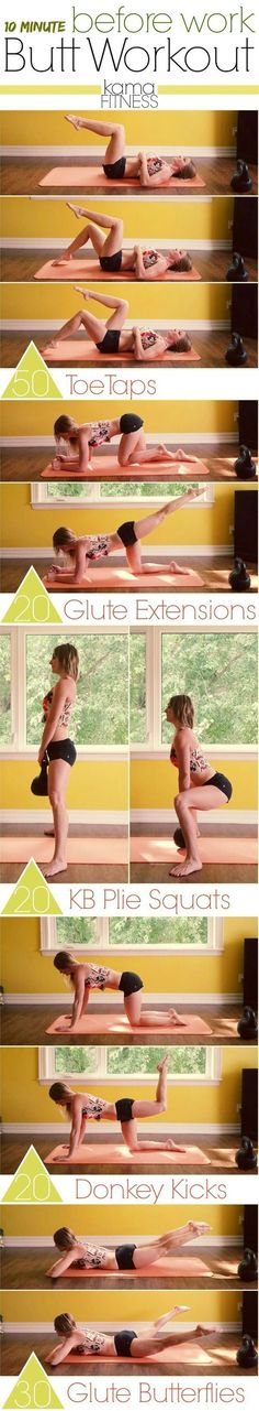 Every woman wants to have a beautiful and healthy body but working all day at a desk wont help. We understand that sometimes there just isnt enough time in the day to do a full workout or go to the gym. So* we brought you 20 exercises that you can do in just ten minutes* these exercises will make you feel better during the day and will get you in shape in a short period of time.