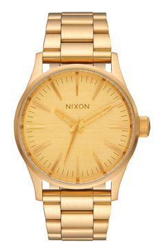Nixon, Sentry 38 SS Watch - All Gold - Nixon Womens - MOOSE Limited