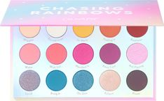 Chasing Rainbows Eyeshadow Palette by Colourpop Colourpop Eyeshadow, Colourpop Cosmetics, Dupes, New Eyeshadow Palettes, Eye Palettes, Everyday Eyeshadow, Holiday Makeup, Makeup For Beginners, Make Up