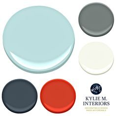 Paint Colour palette ideas for a boys or teenage boy bedroom using Benjamin Moore Arctic Blue with accents. Kylie M INteriors E-design Boys Bedroom Colors, Bedroom Paint Colors, Boys Bedroom Paint, Girls Bedroom, Bedroom Ideas, Trendy Bedroom, Modern Bedroom, Master Bedroom, Bedroom Decor