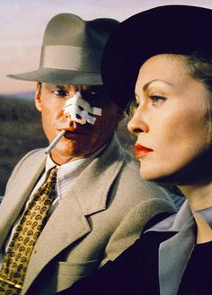 (Los Angeles ) Jack Nicholson and Faye Dunaway in Chinatown, directed by Roman Polanski, (1974)