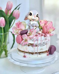 Bunny cake - Cake Art ۰❀۰ ະ✧MadnessintheMethod✧ະ cake art cupcake art Beautiful Cakes, Amazing Cakes, Easter Bunny Cake, Bunny Cakes, Rabbit Cake, Baby Birthday Cakes, Crazy Cakes, Girl Cakes, Cute Cakes