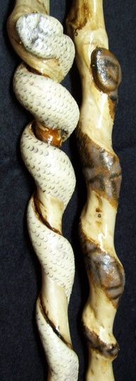 Two Carved Snakes
