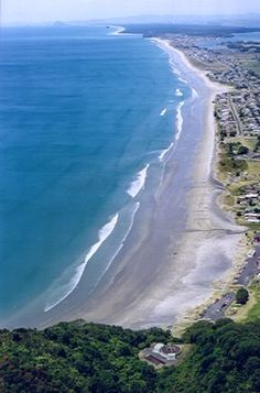 > Waihi Beach, North Island, New Zealand, lovely long beach, a walk over the hill in bottom of photo takes you to a beautiful bay Beautiful Islands, Beautiful Beaches, Places To Travel, Places To See, Places Around The World, Around The Worlds, Beach Fun, Long Beach, New Zealand Beach