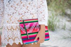 Bohemian Bag - Colorful Boho clutch - Bolivian fabric - Aguayo - Dibadani