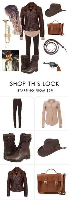 """""""Grace playing the Indiana Jones theme"""" by xreal-bands-save-fansx ❤ liked on Polyvore featuring beauty, Armani Jeans, Bobi, UGG Australia, Overland Sheepskin Co., Polo Ralph Lauren, The Cambridge Satchel Company and Ravel"""