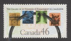 Canada #1848 46c Calling of an Engineer NF/DF - VF-80 NH | eBay Stamps, Engineering, Canada, Graphic Design, Money, History, Ebay, Utility Pole, Door Bells