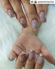 Spring Nail Art, Spring Nails, Love Nails, My Nails, Nail Pictures, Elegant Nails, French Nails, Nail Arts, Christmas Nails