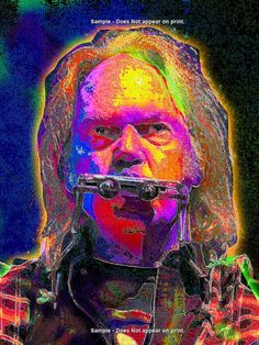 NEIL YOUNG   Large Rock and Roll Art Giclee Print on by EisnerArt, $30.00