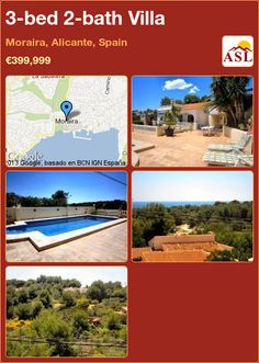 3-bed 2-bath Villa in Moraira, Alicante, Spain ►€399,999 #PropertyForSaleInSpain