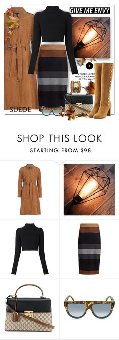 """Give Me Envy"" by wanda-india-acosta ❤ liked on Polyvore featuring French Connection, Balmain, MaxMara, Gucci, CÉLINE and Maison Margiela"