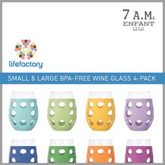 #Giveaway I want to win two sets of brightly colored, durable, BPA-free wine glasses from @Lifefactory as part of the Mommy Deserves Giveaway!