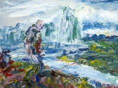 "thorsteinulf: "" Jack Butler Yeats - On through the Silent Lands "" Gallery Of Modern Art, Art Gallery, Devon Life, Irish Painters, Jack B, Short Stories For Kids, Irish Art, Urban Life, Art Uk"