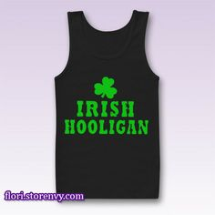 IRISH HOOLIGAN St. Patrick's Day Tank Top M L XL XXL #tanktop
