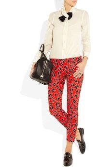 Miu Miu Star-Print Skinny Jeans - my jaw dropped when I saw these. #Handbags