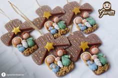 Natal Diy Nativity, Christmas Nativity, Christmas Ornaments, Diy Christmas Star, Christmas Crafts, Christmas Decorations, Clay Projects, Diy Craft Projects, Diy Crafts To Do