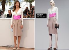 """WHO: Hilary Swank WHERE & WHEN: """"The Homesman"""" Photocall during the 67th Annual Cannes Film Festival on May 18, 2014. WEARING: Bottega Veneta dress, Casadei shoes  - See more at: http://thefashion-court.com/tag/67th-annual-cannes-film-festival/#sthash.nhy8yIzE.dpuf"""