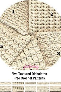 knitting dishcloth [Free Pattern] Five Textured Dishcloth Crochet Patterns You Will Love - Knit And Crochet Daily Crochet Puff Flower, Crochet Fish, Quick Crochet, Crochet Flower Patterns, Crochet Stitches Patterns, Crochet Basics, Crochet Crafts, Crochet Projects, Free Crochet