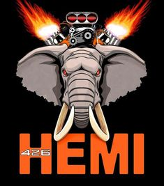 426 Hemi elephant Logo The 426 Hemi was a massive engine. Hence the term elephant. Dodge Muscle Cars, Old Muscle Cars, American Muscle Cars, Mopar, Hemi Engine, Car Engine, Triumph Motorcycles, Custom Motorcycles, Dodge Challenger