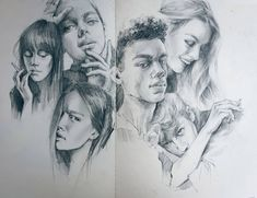 Portrait Drawings and one Celebrity Group. By Polina Ishkhanova.
