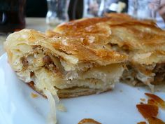 Burek from Croatia - meat filled flaky pastry.
