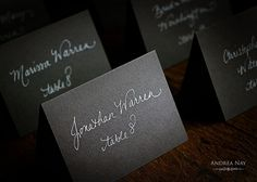 Place Cards or Escort Cards  Hand Lettered with by AndreaNay, $1.85