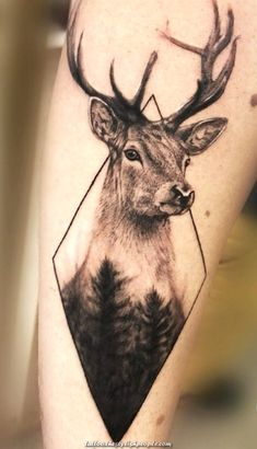 For Curtis? The Effective Pictures We Offer You About dog Hunting Tattoos A quality picture can tell Deer Skull Tattoos, Elephant Tattoos, Wolf Tattoos, Animal Tattoos, Deer Hunting Tattoos, Deer Head Tattoo, Geometric Tattoo Animal, Geometric Tattoo Nature, Raven Tattoo
